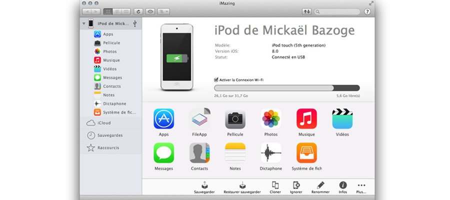 contacts iphone vers pc